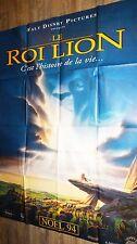 LE ROI LION ! affiche cinema animation bd disney preventive 1994
