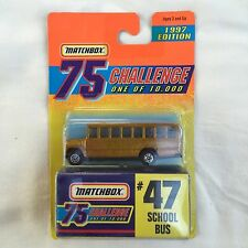 Matchbox 1997 Challenge 75 Gold 1/10,000 - #47 School Bus - New - Free Ship