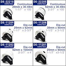 Etiketten Kompatibel für Brother P-Touch QL 1050 500 550 570 700 1060 N BW A NW