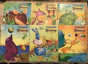 Macmillan/McGraw Hill Treasures Grade 1 Hardcover Student Textbook 2011 Set Of 6