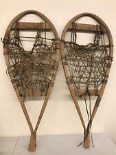 Antique Rustic Wooden Snowshoes Vintage Wood - 33� x 13�