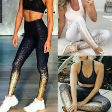 Womens Yoga Leggings Ombre Fitness Sports Run Gym Workout Jogging Pants Trouser