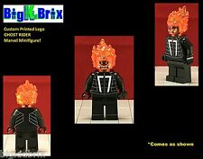 GHOST RIDER Marvel Custom Printed LEGO Minifigure NO Decals Used!