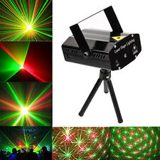 Black Mini Laser Projector Stage Light LED R&G Xmas Party KTV DJ Disco Lighting