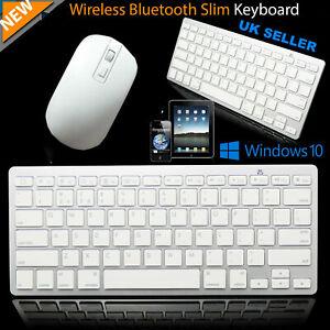 Mini Ultra Thin Wireless Mouse Keyboard Combo Kit Set For Laptop Computer PC