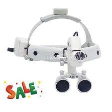 3.5X-R Dental Surgical Medical Headband Binocular Loupes with LED Head Light Hot