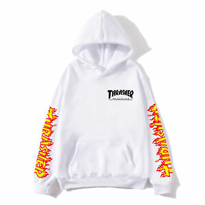New Hip-Hop Skateboard Sweatshirt Men Women Pullover Plus Fleece Hoodie Sweater