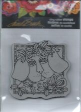 """""""Holly Pup"""" Cling Rubber Stamp Set by Stampendous"""