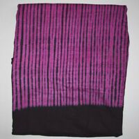"""1980s African MALI Pur/Pnk Brn/Bl TIE DYED DAMASK BAZIN Fabric Material 128""""x44"""""""