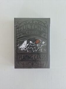 Fultons October Playing Cards Dark Grey SEALED - Dan & Dave RARE