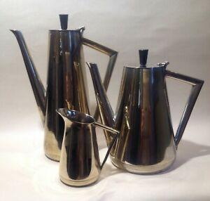 A Vintage Mid Century Silver Plated Tea Set - Modernist