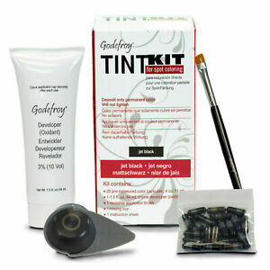 NEW Godefroy Eyebrow Tint Kit Color For Spot Coloring - Jet Black
