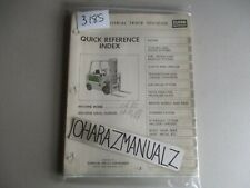 Clark Forklift CH80 Quick Reference Guide Manual