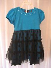 Tempted Girls Blue/Black 2 Piece Top & Leggings Set Sz 2T 95% Cotton NWWT