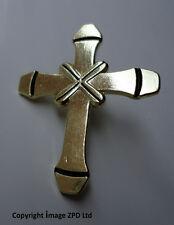 ZP270 Crusader Cross Pin Badge Church Gothic Ancient Christian Biker Faith