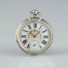 Schweizer Prunk Silbergehäuse Taschenuhr, skelettiertes Uhrwerk um 1860