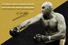 """Tyson Fury """"Gypsy King"""" quote - photo print poster - pre signed - Overcome"""