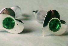 Crystal Earrings Heart Shaped