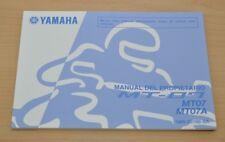 YAMAHA MT-07 MT07 MT07A Manual del Propietario Spanisch Bedienungsanleitung