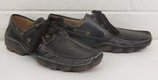 Aldo Dark Brown Leather Low Profile Loafers EU 43 US Men's 10 Fast Shipping LOOK