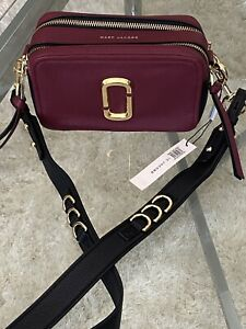 Marc Jacobs The Softshot 21 Leather Crossbody Bag Purse Logo Retails $350 New