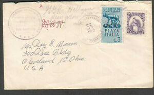 Guatemala 1962 cover Escuela Nacional Urbana De Varones to Cleveland OH