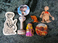 ViNtaGe E.T. Collectible Lot Figure, Candy, Jumbo eraser, Pins Universal studios