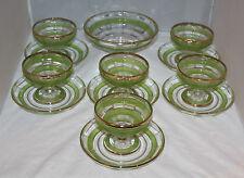 Vintage/Retro - Glass Dessert/Trifle/Sorbet Set/Service Complete - VGC