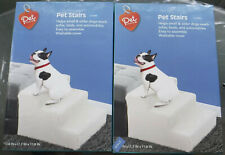New listing 3-Step Stairs for Small Pets Fleece-Covered Plastic 2 New Unused Nib