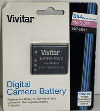 Vivitar Sony NPBN1 NP-BN1 Digital Camera Battery - B54 - VIV-SB-BN1 - Cyber Shot