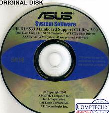 ASUS GENUINE VINTAGE ORIGINAL DISK FOR PR-DLS533 Motherboard Drivers Disk S038