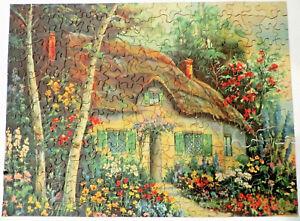 Vintage Picture Puzzle Cottage Garden SUMMERTIME 300 pc. Saalfield Complete