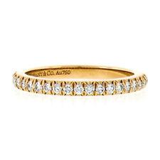 Tiffany & Co. Novo 18k Rose Gold 0.20ctw Diamond Half Eternity Wedding Band Ring