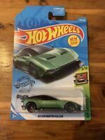 2019 Hot Wheels #235 Green Aston Martin Vulcan With Black Wing