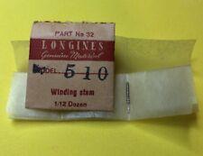 NOS Longines Winding Stem Cal.510 Part 401 Watch Parts Repair Restore Swiss New
