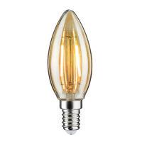Paulmann 283.64 LED Filament Kerze 2,5W E14 Gold 230V 2500K Lüster Deckenleuchte
