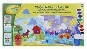 Crayola 54-9039-E-000 Washable Deluxe Paint Kit Painting Set NEW GIFT