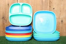 Lot of 10 REPLAY Divided & Flat Deep Sided Baby Toddler Plates