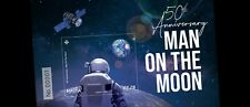 Malta Stamp Miniature Sheet 50th Ann. Man On The Moon 2019 Issued 19th July 2019