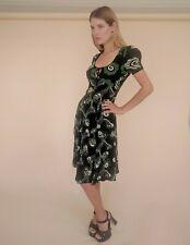 Celia Birtwell for Topshop Dress Vintage 1970s Style Dress Ossie Clark Midi 8 S