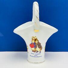 Peter Rabbit Flower trellis vase Beswick Beatrix Potter basket Benjamin Bunny UK