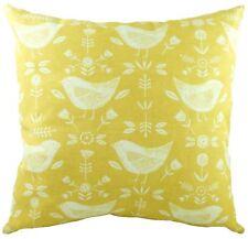 827f2efcc46a2f Evans Lichfield Nordic Birds Floral Ochre Yellow Cushion Cover