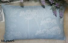 "John Lewis & Partners ""Cow Parsley"" Fabric & Cushion Pillow Cover 12""x20"" ,Blue"
