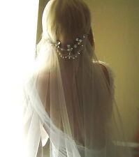 Juliet Cap Veil Swarovski Rhinestone ANY LENGTH cut edge veil Vintage Inspired 1