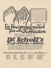Y6126 Dr. Scholl's fuß Pflege System - Pubblicità d'epoca - 1925 Old advertising