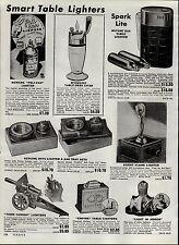 1951 PAPER AD Novelty Cigarette Lighter Silent Flame Nude Dancer Cannon 75MM