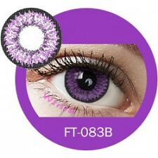 Lentille de couleur violet 2 tons FT083B - violet color contact lenses
