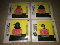 1983 Topps 4 different Star Wars Return of the Jedi 1st Series Wrappers ExMt
