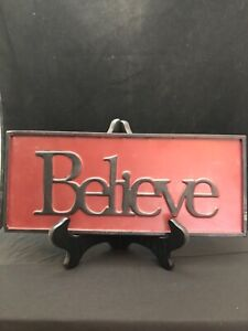 Believe Plaque / Sign Farmhouse Style Great For The Holidays Or Any Day