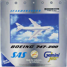 Boeing 747-200 SAS Scandinavian N450IQ Gemini Jets GJSAS179 1:400 in OVP [M9]